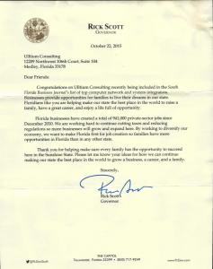 Rick Scott Letter