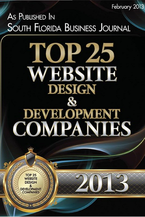 South Florida Business Journal Top 25 Website and Development Companies 2013