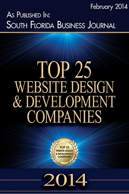 South Florida Business Journal Top 25 Website and Development Companies 2014